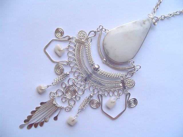 Natural peruvian stones jewelry handmade